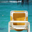 Reclining chair on beach — Stock Photo