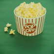 Special effect on vintage Pop corn bowl — Stock Photo