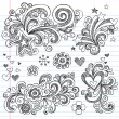 Royalty-Free Stock Vectorafbeeldingen: Sketchy Back to School Notebook Doodles