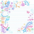 Colorful Sketchy Back to School Notebook Doodles — Imagens vectoriais em stock