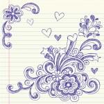 Sketchy Back to School Notebook Doodles — Stock Vector