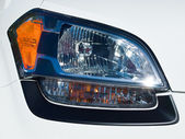 Close Up of a New Car Headlight — Stock Photo