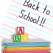 Back to School Written on a Lined Dry Erase Board — Stock Photo