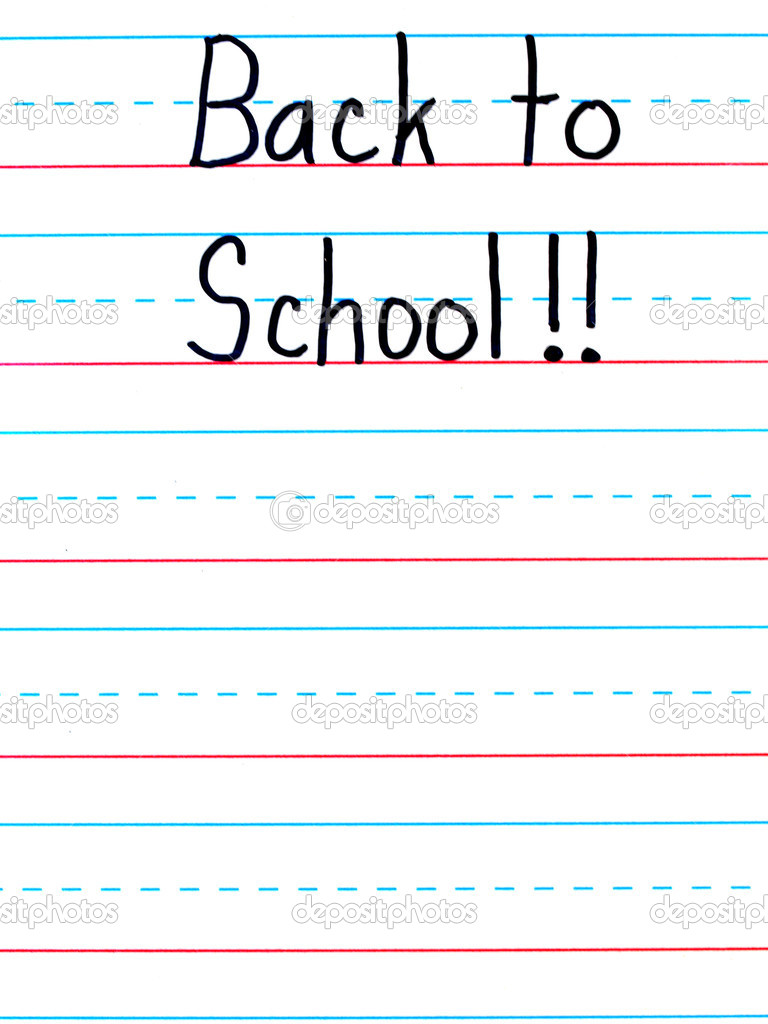 Back to School Written on a Lined Dry Erase Board — Stock Photo #6179864