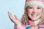 Snow Woman — Stock Photo