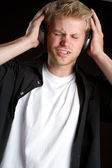 Headphones Boy — Stock Photo