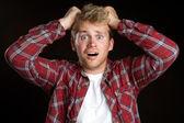 Man Pulling Hair — Stock Photo