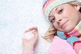 Winter Snow Woman — Stock Photo