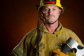 Firefighter Man — Stock Photo