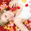 Flower Petals Woman — Stockfoto