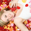 Flower Petals Woman — Stock Photo