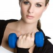 Woman Liting Weights — Stock Photo