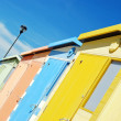 Row of beach huts — Stock Photo #6057548