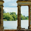 Old arches Hever castle gardens Hever England - Stock Photo