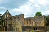Ruin church at Battle Abbey Battle England — Foto Stock