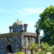 arundel castle garden — Stock Photo