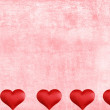 Valentines heart border with watercolor paper - Stock Photo