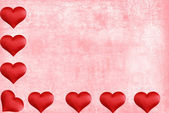 Valentines heart border with watercolor paper — Stock Photo