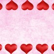 Pink watercolor paper with valentines heart border — Stock Photo