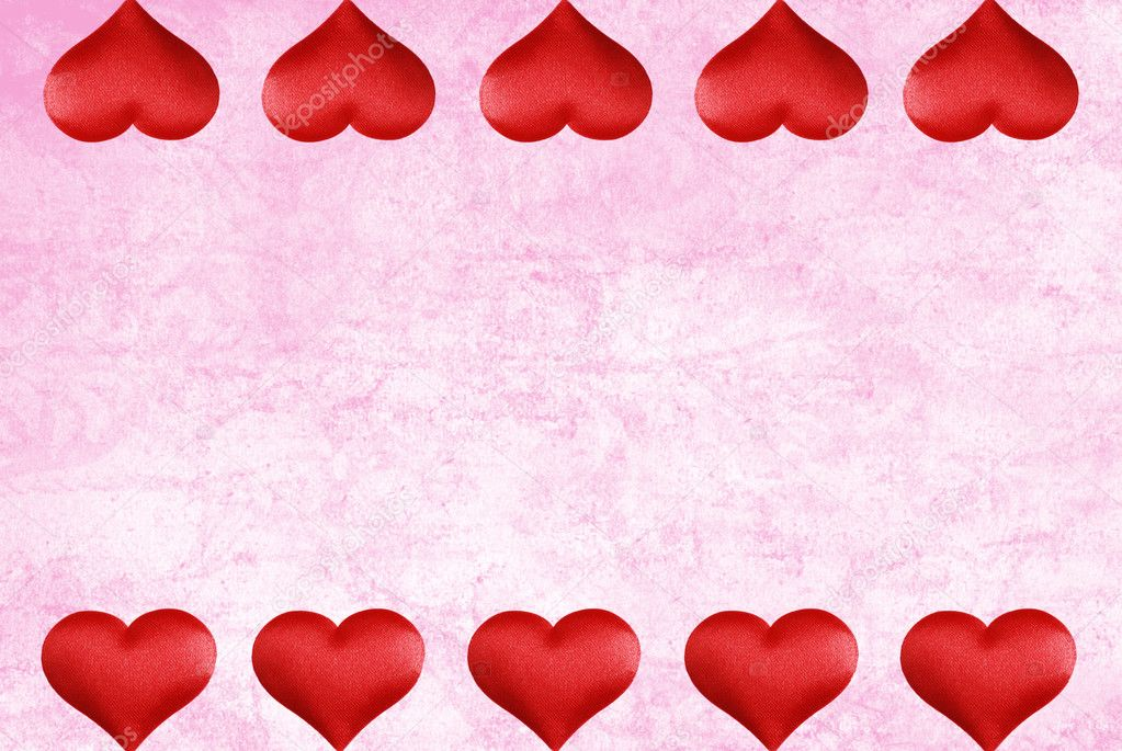 ... watercolor paper with valentines heart border — Stock Image #6738058