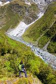 Dağ yürüyüşü — Stok fotoğraf