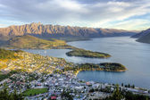 Coucher de soleil de queenstown — Photo