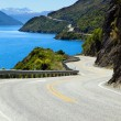 Road along the lake — Stock Photo