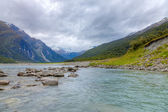 Scenic valley in New Zealand — Stock Photo