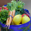 Fresh Produce in a Grocery Bag — Stockfoto