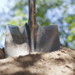 Shovel and Dirt — Stock Photo