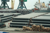 Warehouse Of New Pipe — Stock Photo