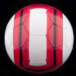Red and white soccer ball — Stock Photo