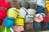 Big bags with goods — Stock Photo
