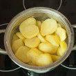 Boiling Potatoes — Stock Photo