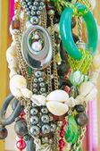 Pozadí z různých růžové šperky — Stock fotografie