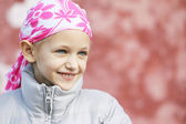 Barn med cancer — Stockfoto