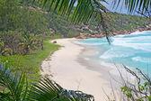 Empty beach on La Digue island, Seychelles — Stock Photo