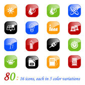 Energy icons - color series — Stock Vector