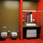 Modern interior of a bathroom 3D — Stock Photo #5465509