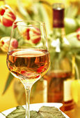 Wine in a glass — Stock Photo