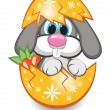 Stock Vector: Rabbit in egg