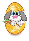 Rabbit in the egg — Stock Vector