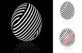 Set of abstract Easter egg — Stock vektor