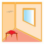 Köşe oda — Stok Vektör