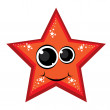 Cartoon gay red star — Stock Vector