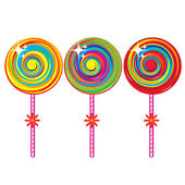 Set of colorful lollipops — Stock Vector
