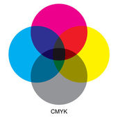 CMYK color modes — Stock Vector