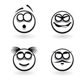 Four cartoon of abstract emotions. — Stock Vector