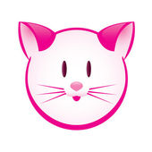 Cartoon gay pink kitty — Stock Vector