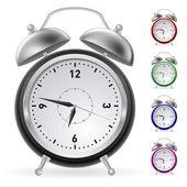 Horloge colorée réaliste — Vecteur